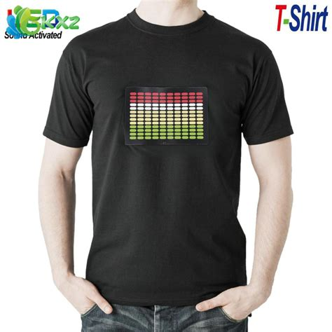 sound activated light up shirts sale sound activated led t shirt light up