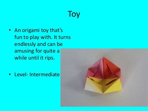 Intermediate Origami - nick s origami projects