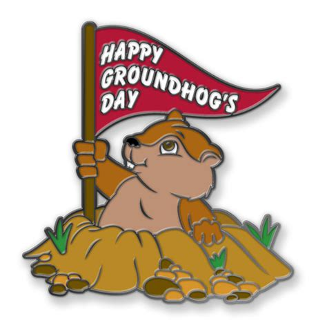 groundhog day logo groundhog day lapel pins signature pins signature pins