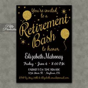 glitter balloons retirement invitations nifty printables