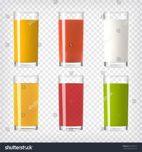 Colorful Set juice milk glasses set colorful set stock vector 424478914