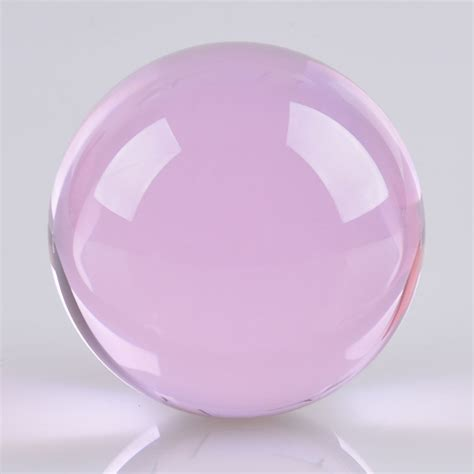 3 94 quot 10cm 100mm pink crystal ball glass ball sphere