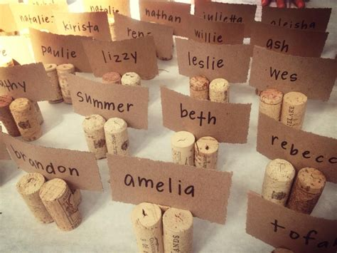 how to make cork place card holders diy wedding place card holder using cork whyallthefuss