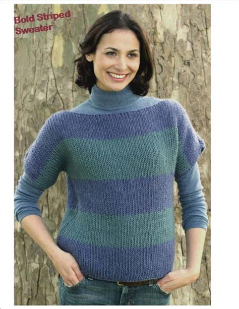 free boat neck sweater knitting pattern boatneck sweater in bold stripes favecrafts