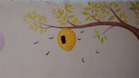 ositos para decorar habitacion bebe cuarto de bebe dibujos de ositos arbol y panal figuras