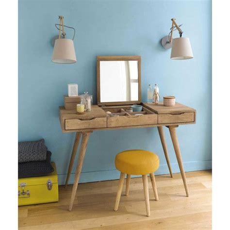 tabouret de chambre tabouret en tissu et bois jaune bois pin up chambre