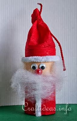 santa toilet paper roll craft how to recycle recycled santa claus ornaments