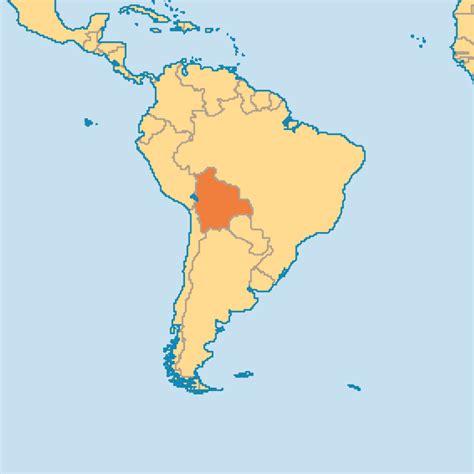 bolivia on the world map bolivia operation world