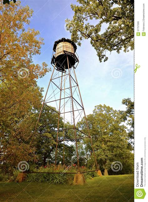 backyard water tower wood water tower in backyard stock photo image 57757566