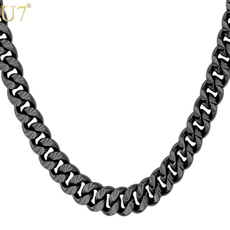 black gold chain popular cuban link chain buy cheap cuban link chain lots