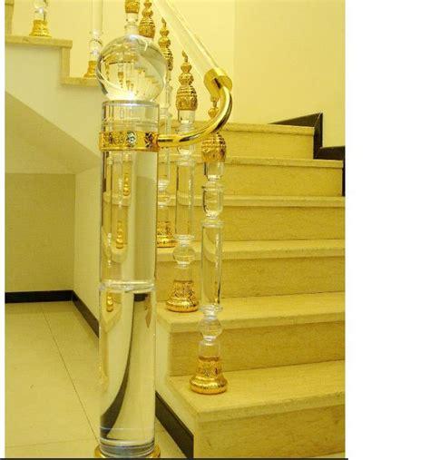 pillar decoration home china fashion crystal glass stair railing pillar
