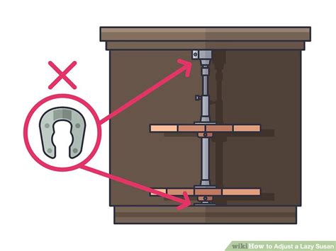 lazy susan cabinet repair 3 ways to adjust a lazy susan wikihow