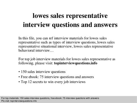 design engineer interview questions and answers pdf lowes sales representative interview questions and answers