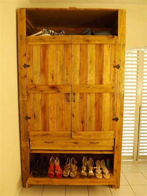 wooden pallet shoe rack ideas pallet wood projects recycled wood pallets made wardrobe with shoe storage