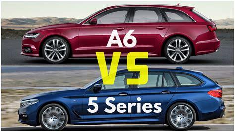 Audi A6 Vs Bmw 5 by 2017 Bmw 5 Series Touring Vs Audi A6 Avant