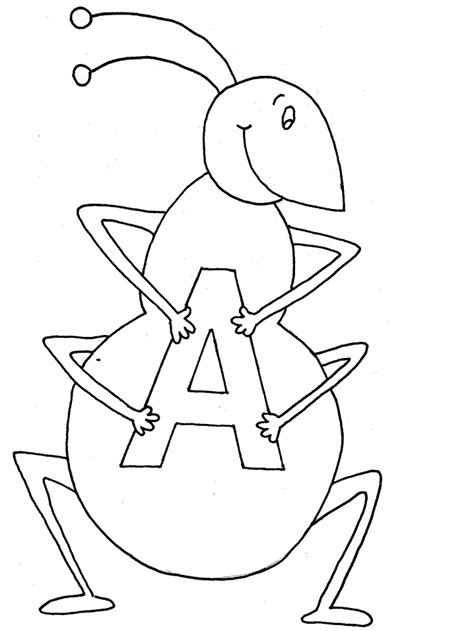Letter Coloring Pages Coloring Pages To Print The Letter A Coloring Pages