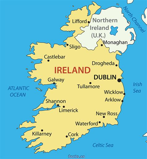 map ireland map of ireland geography city ireland map geography political city