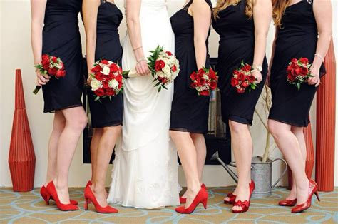 black bridesmaids dresses with shoes lucky in