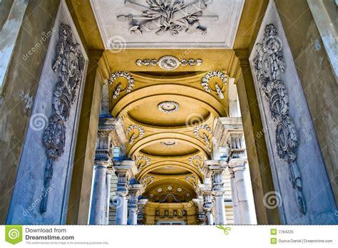 Interior Pillars interior of gloriette at schonbrunn palace stock image