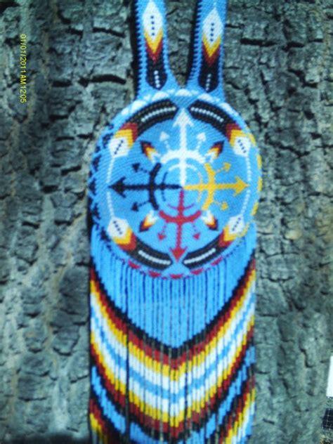 beadwork blue blue beaded rosette medallion by