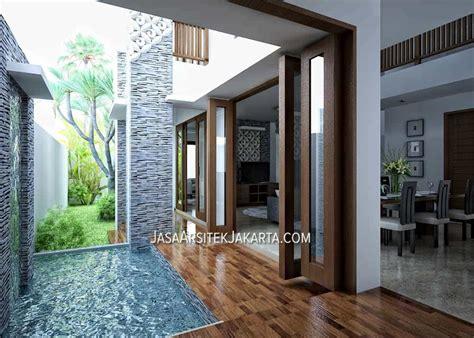 desain interior rumah bali modern desain rumah luas 450 m2 milik bu devi batam jasa