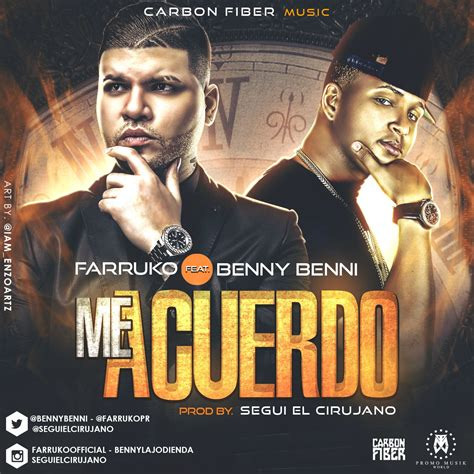 farruko new music and songs wls new music farruko ft benny benny me acuerdo