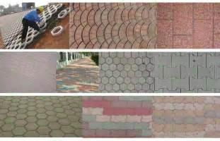 Walkmaker Patio Precast Concrete Paver Paving Concrete Mold For Sale
