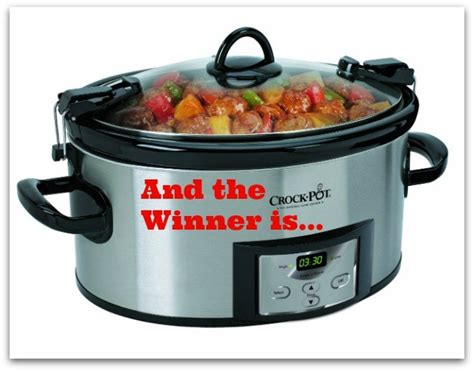 Crock Pot Cooker Giveaway And The Winners Are and the winner of the naturale crock pot cooker