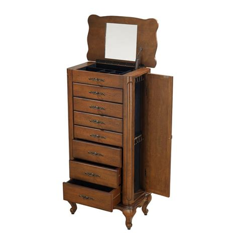 Home Decorators Jewelry Armoire by Home Decorators Collection Provence Chestnut Jewelry Armoire 0828700970 The Home Depot