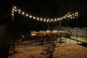string lights in backyard diy string light patio house elizabeth burns