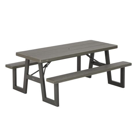 6 ft picnic table lifetime 6 ft folding picnic table with benches 22119