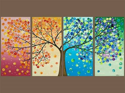 how to do wall painting designs yourself easy seasons tree painting idea tree wall art walls and
