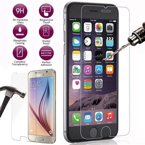 lot 2x 5x 10x 9h tempered glass screen protector for samsung iphone 6 6s 7 plus ebay