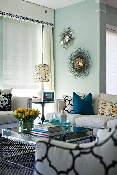 Black White Blue Living Room by Turquoise Bleu Wall Paint Living Room