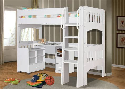 White Single Bunk Beds Miami Single White Loft Bunk