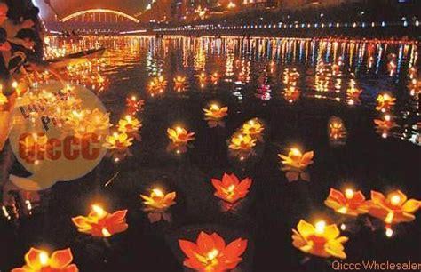 fiori thailandesi paper floating garden water lantern pond lotus