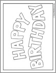 coloring birthday cards 55 birthday coloring pages customizable pdf
