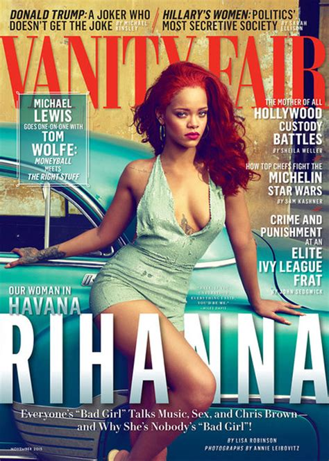 Vanity Magazine by Rihanna For Vanity Fair By Leibovitz