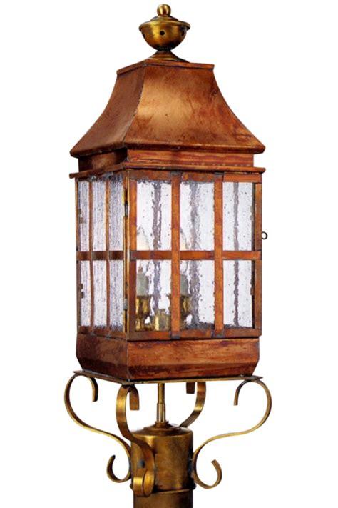 copper l post lantern weston handmade copper lantern post light head for sale