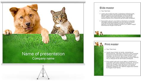 Dog Cat Powerpoint Template Backgrounds Id 0000000997 Cat Powerpoint Template