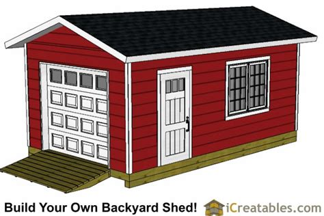 10×12 Shed Plans With Garage Door