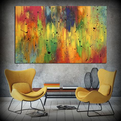 reasonably priced home decor 2018 wall art oil painting colorful abstract home decor