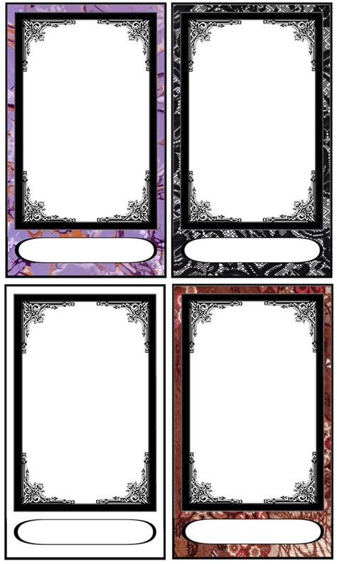 blank tarot card template tarot card templates by fararden on deviantart