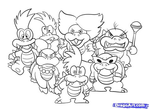mario coloring pages bowser jr bowser coloring page coloring home