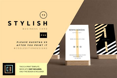 Stylish Business Cards Templates Free by Stylish Business Card 94 Business Card Templates On