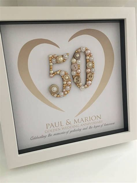 Golden Wedding Anniversary Gift   50th Anniversary Gift