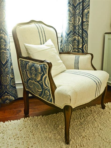How To Reupholster An Arm Chair how to reupholster an arm chair hgtv