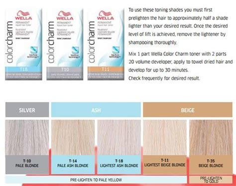 hair toner colors wella toner chart allcures