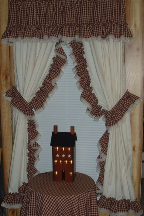 primitive style curtains primitive curtains for living room alluring country style
