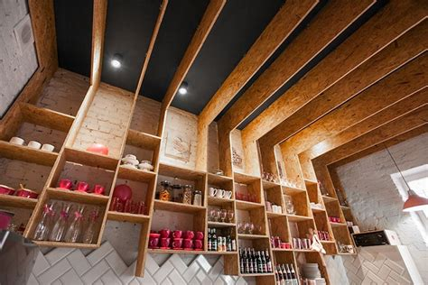 Bar Island For Kitchen pink caf 233 interior design makes patrons feel at home